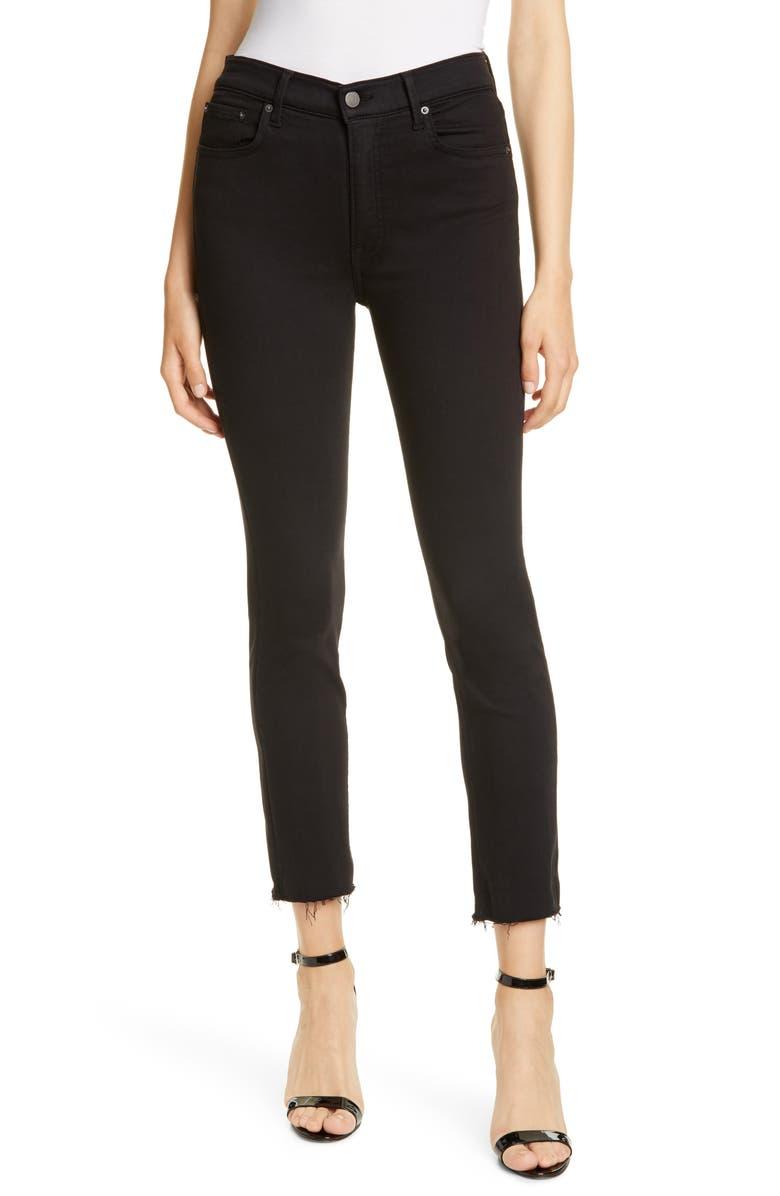GRLFRND Reed High Waist Skinny Jeans, Main, color, 001