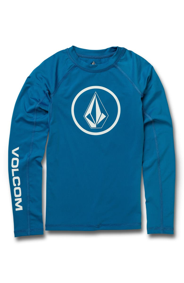 VOLCOM Lido Long Sleeve Rashguard, Main, color, TRUE BLUE