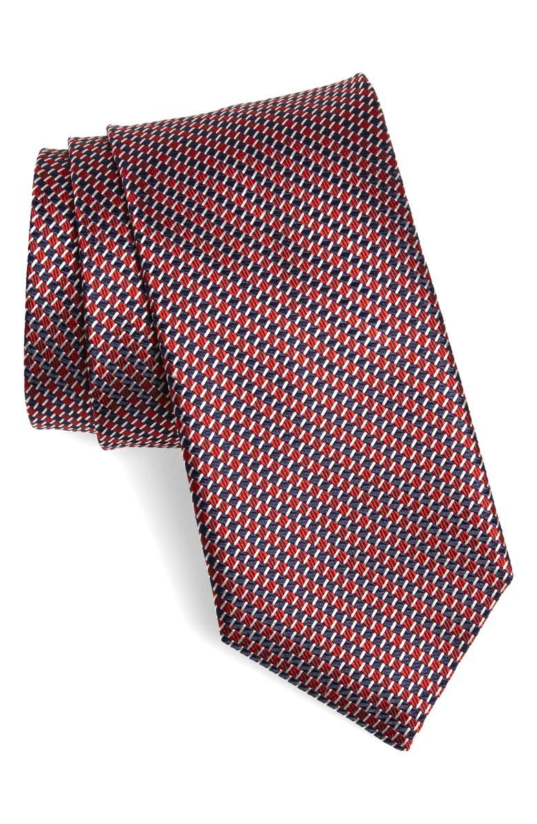 CANALI Geometric Silk X-Long Tie, Main, color, 600