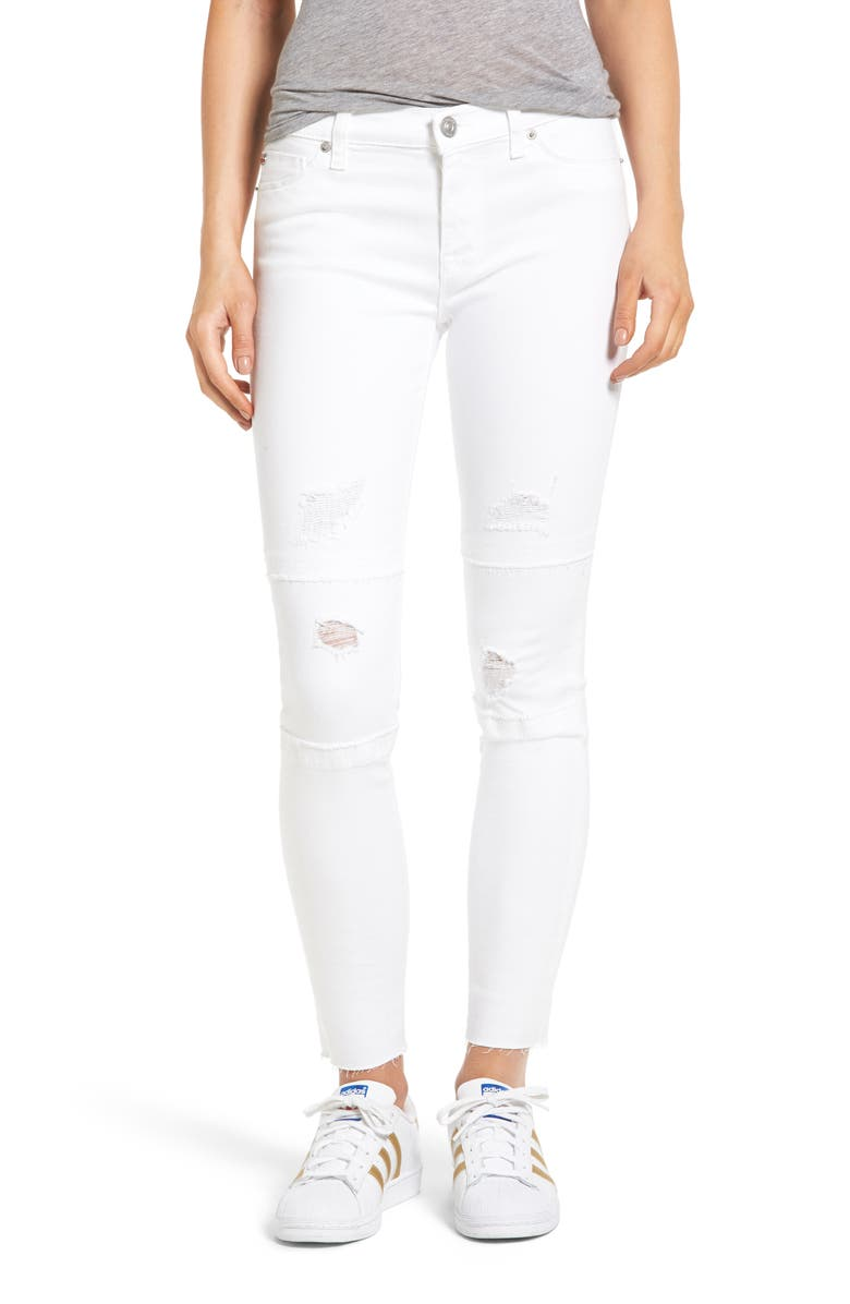 HUDSON JEANS Nico Ankle Skinny Jeans, Main, color, 111