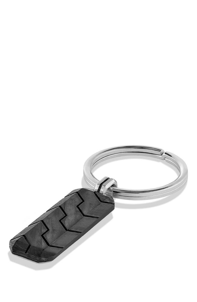 DAVID YURMAN 'Forged Carbon' Key Chain, Main, color, 040