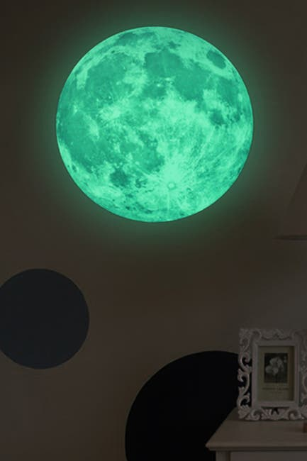 Image of WalPlus Glow in Dark Moon White Decal