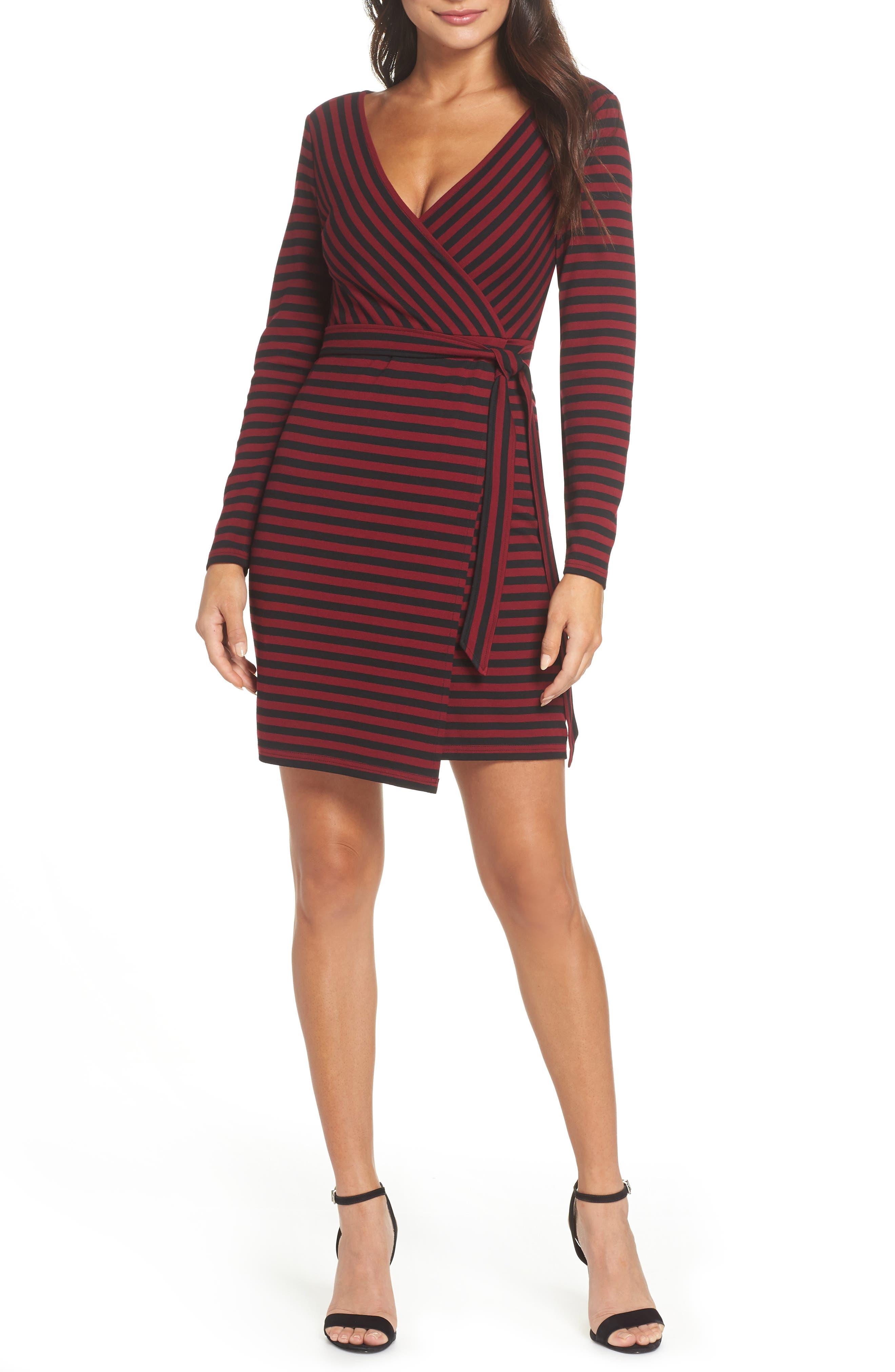 Bb Dakota All Day Everyday Ponte Faux Wrap Dress