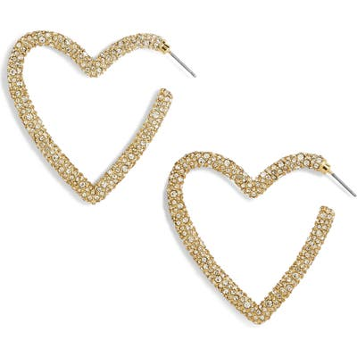 Baublebar Ciena Pave Statement Heart Hoop Earrings