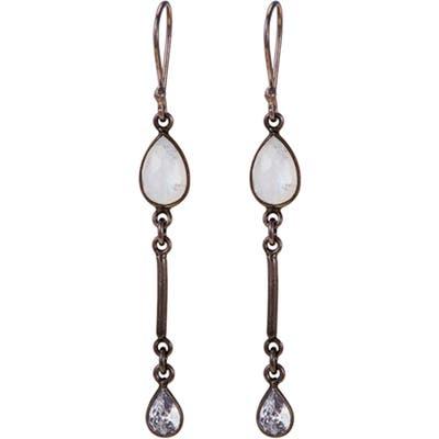 Adornia Moonstone Drop Earrings