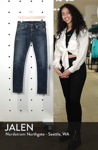'Racer' Whiskered Skinny Jeans, sales video thumbnail