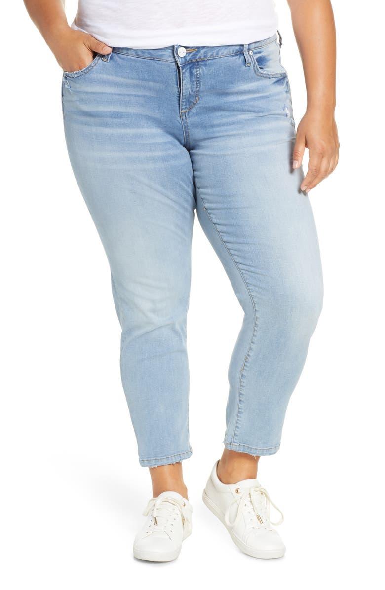 SLINK JEANS Crop Boyfriend Jeans, Main, color, SELMA