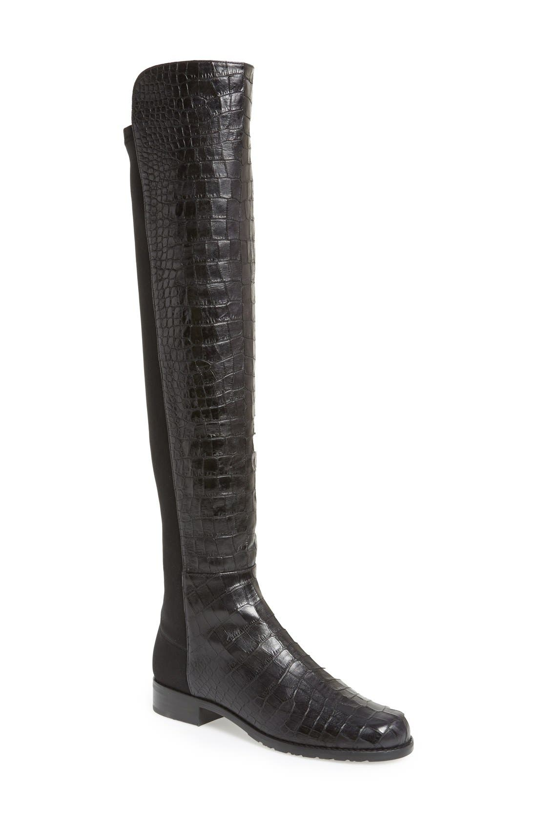 ,                             5050 Over the Knee Leather Boot,                             Main thumbnail 9, color,                             016
