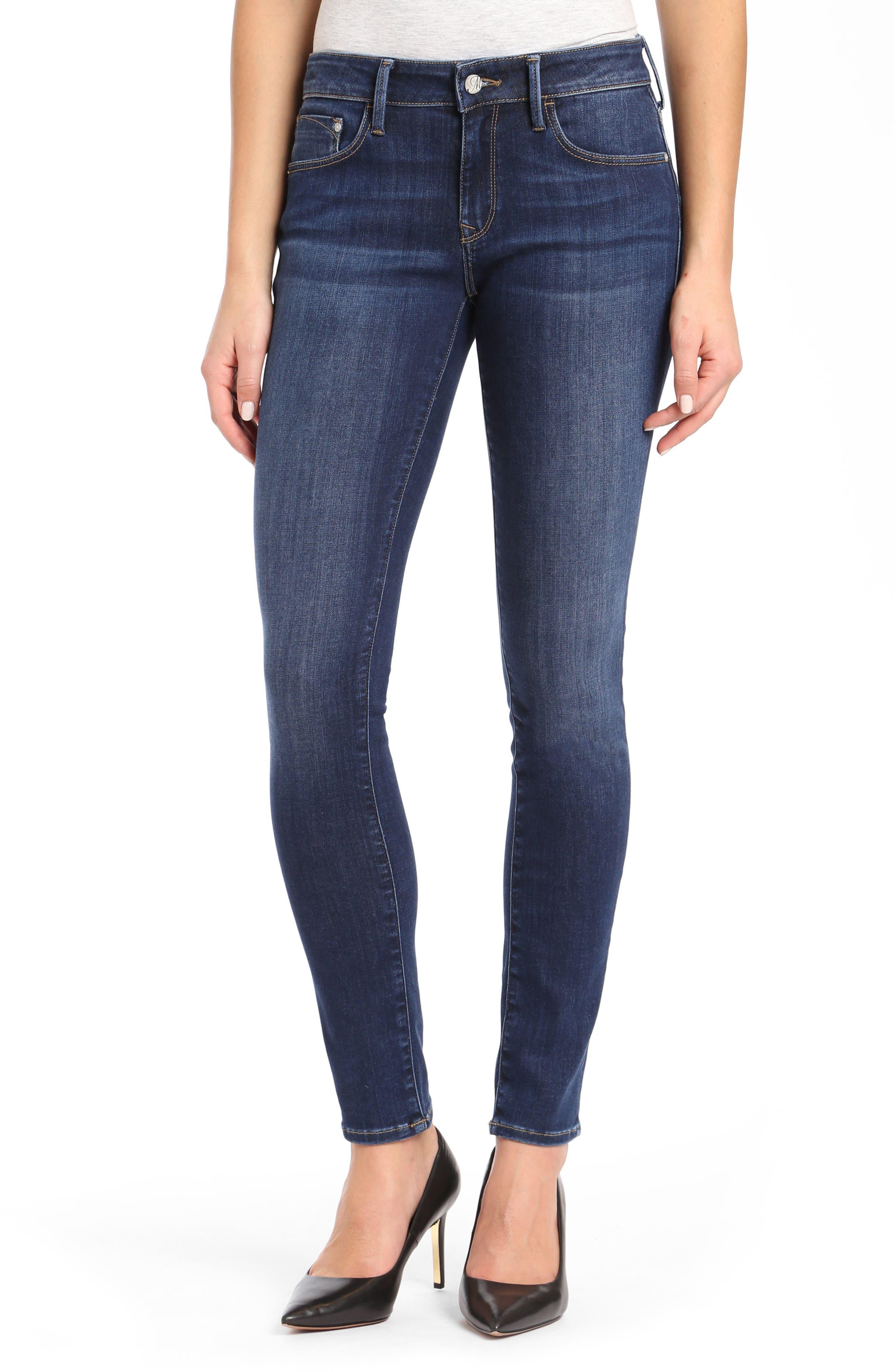 ,                             Alexa Supersoft Skinny Jeans,                             Main thumbnail 1, color,                             DARK SUPER SOFT