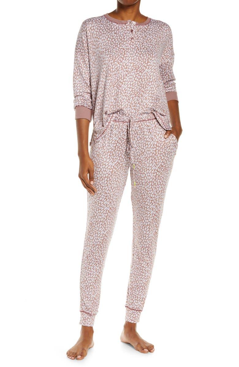 REFINERY29 Refinery 29 Print Pajamas, Main, color, BROWN PRINT