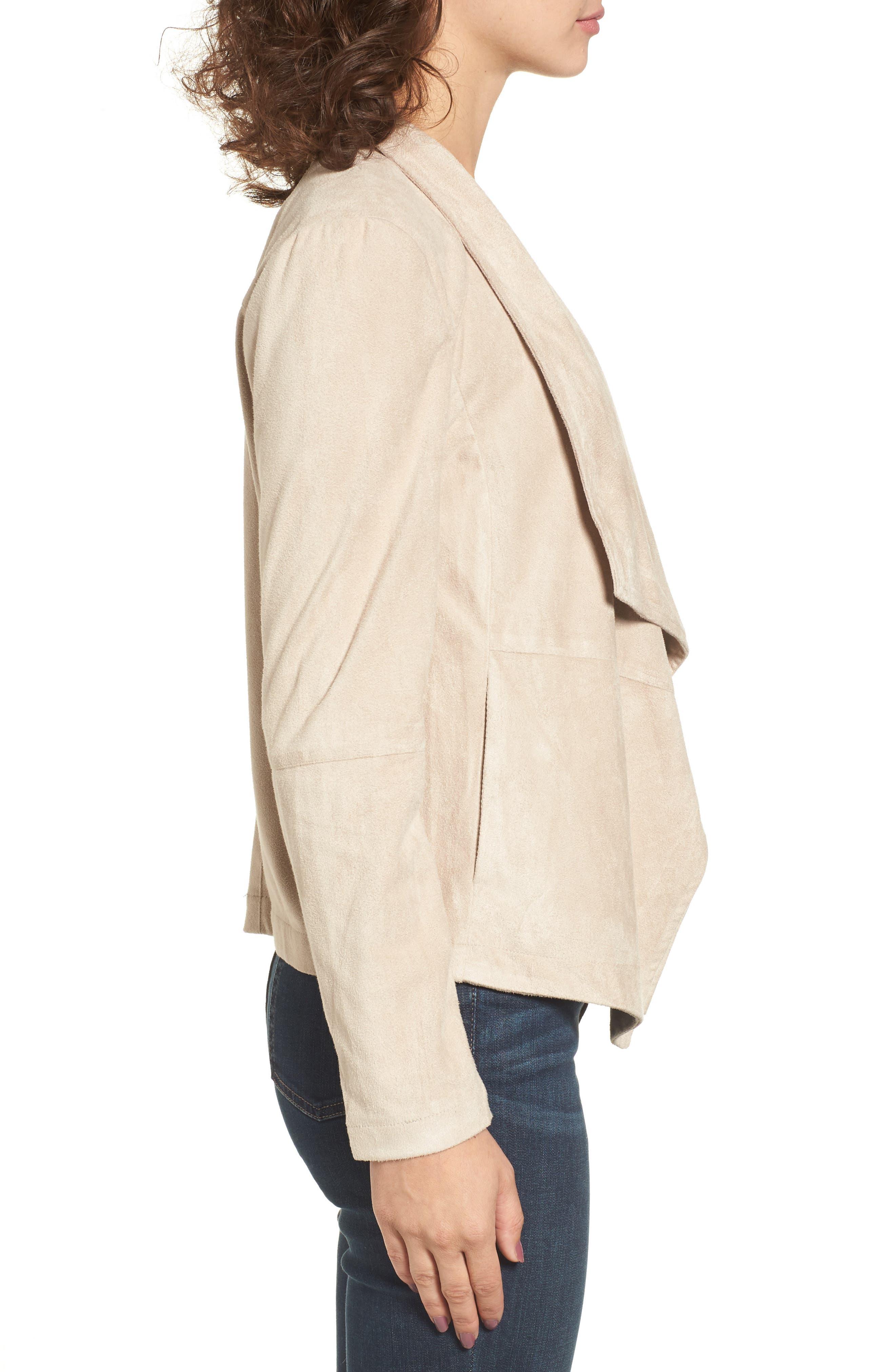 ,                             Nicholson Faux Suede Drape Front Jacket,                             Alternate thumbnail 66, color,                             905