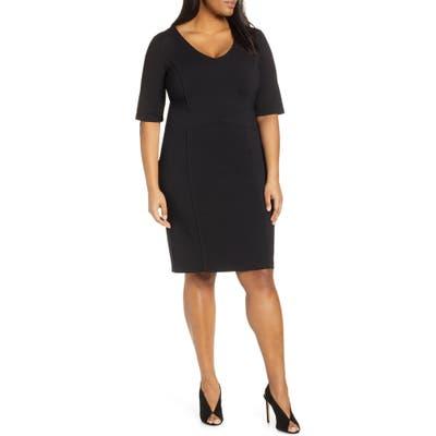 Plus Size Eloquii 9-To-5 Stretch Sheath Dress, Black
