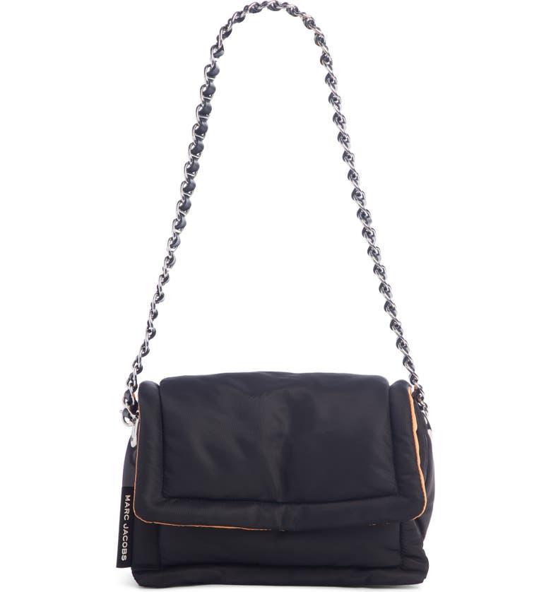 THE MARC JACOBS The Nylon Pillow Shoulder Bag, Main, color, BLACK