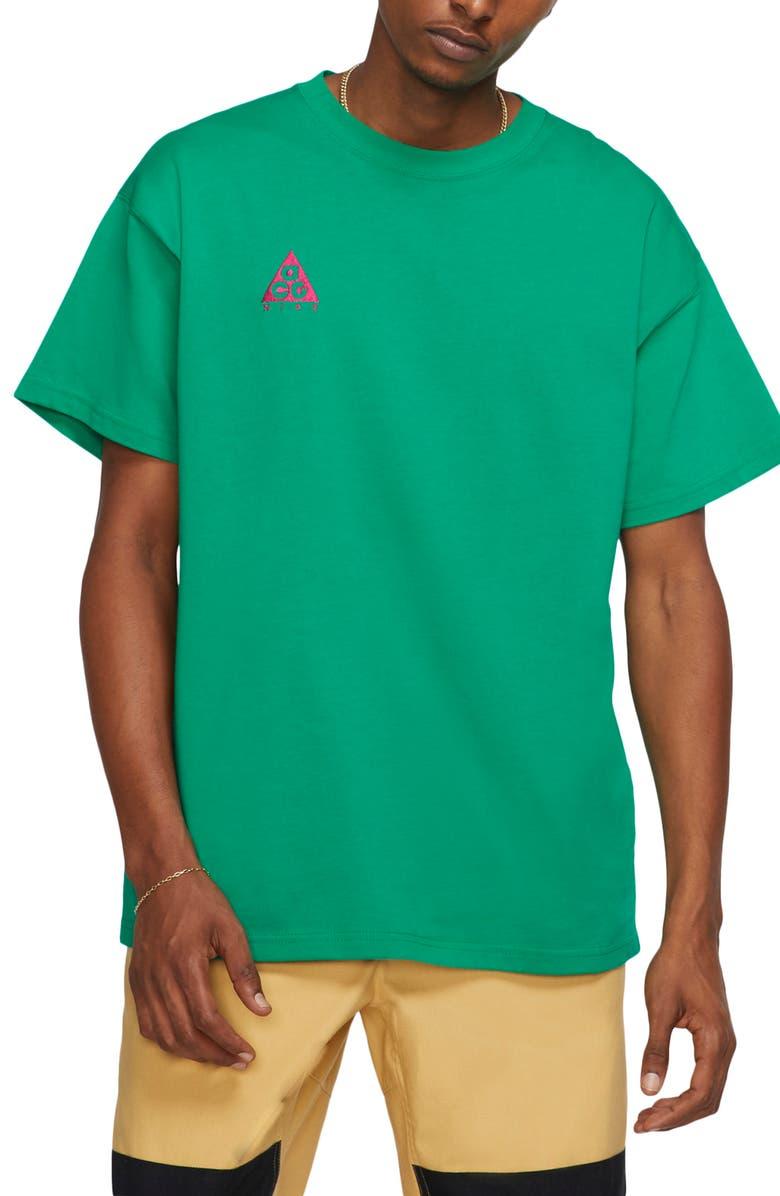 NIKE NRG All Conditions Gear Men's Logo T-Shirt, Main, color, LUCID GREEN/SPORT FUCHSIA