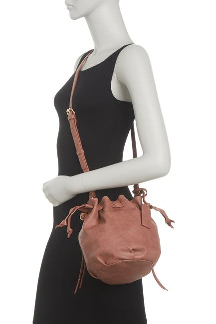 Image of Sole Society Drawcord Crossbody Bucket Bag
