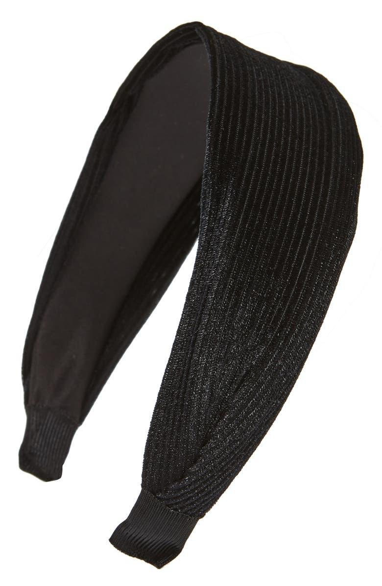 CARA Pleated Headband, Main, color, 001