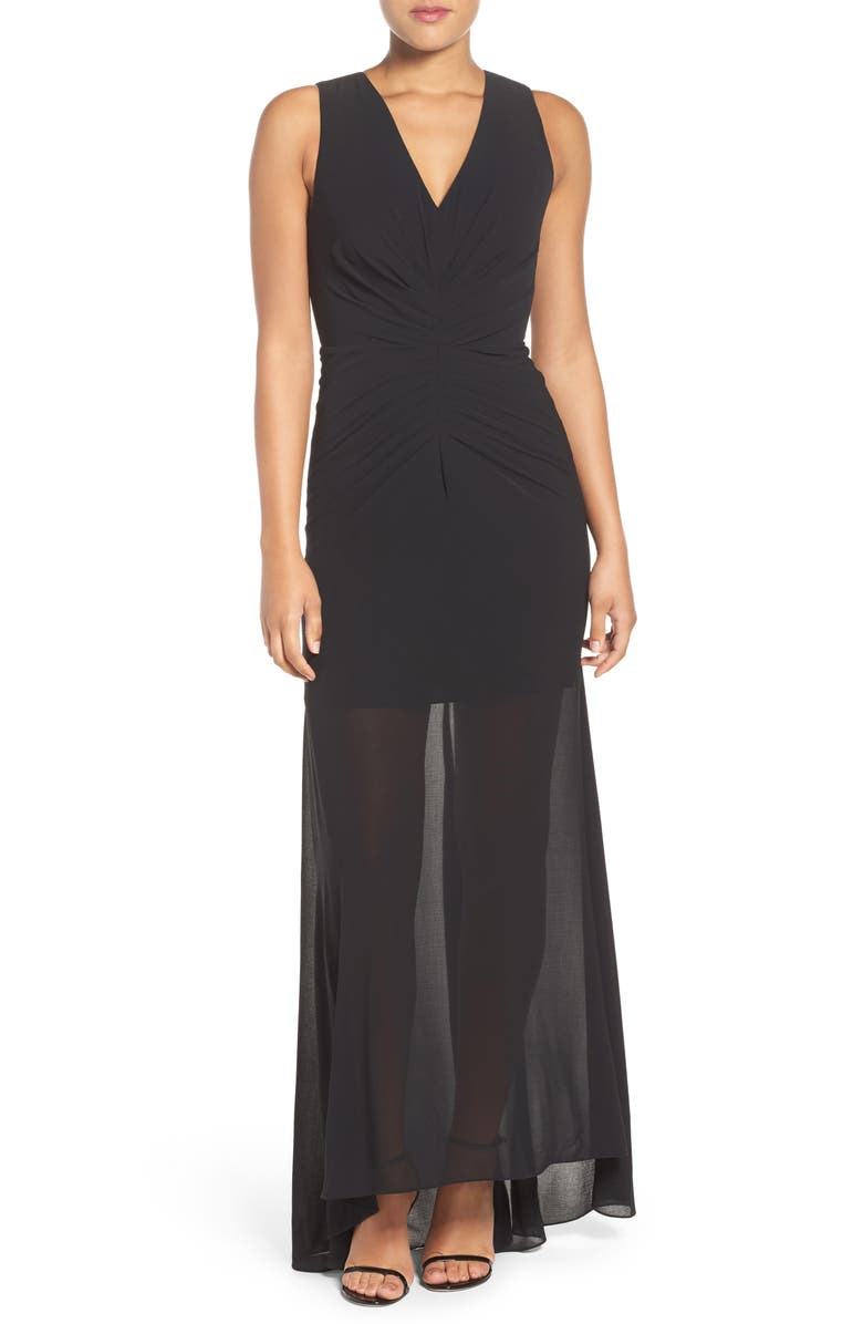 ALI & JAY Ruched Gown, Main, color, 001