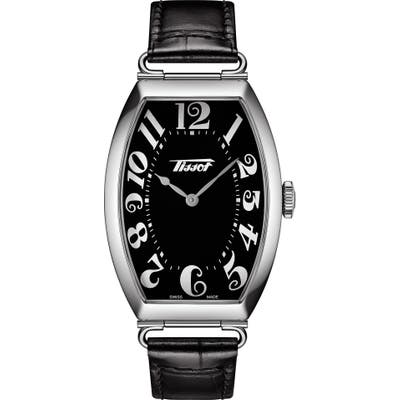 Tissot Heritage Porto Leather Strap Watch, 42.5mm X 31mm