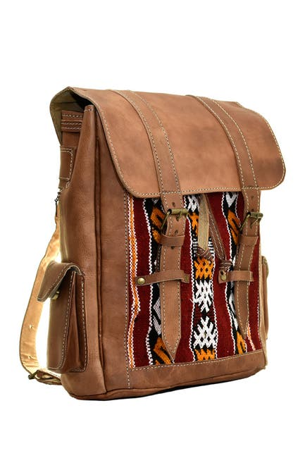 Image of Vintage Addiction Walnut Leather Backpack