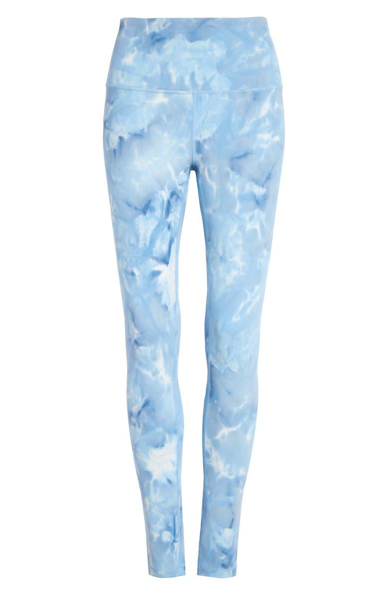 ZELLA Spray Dye High Waist Leggings, Main, color, NAVY MEDIEVAL - BLUE XENON