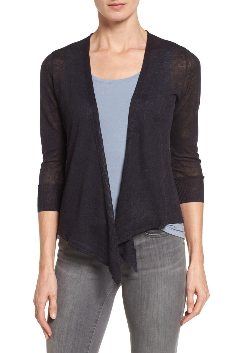 NIC+ZOE 4-Way Lightweight Cardigan, Main, color, MIDNIGHT