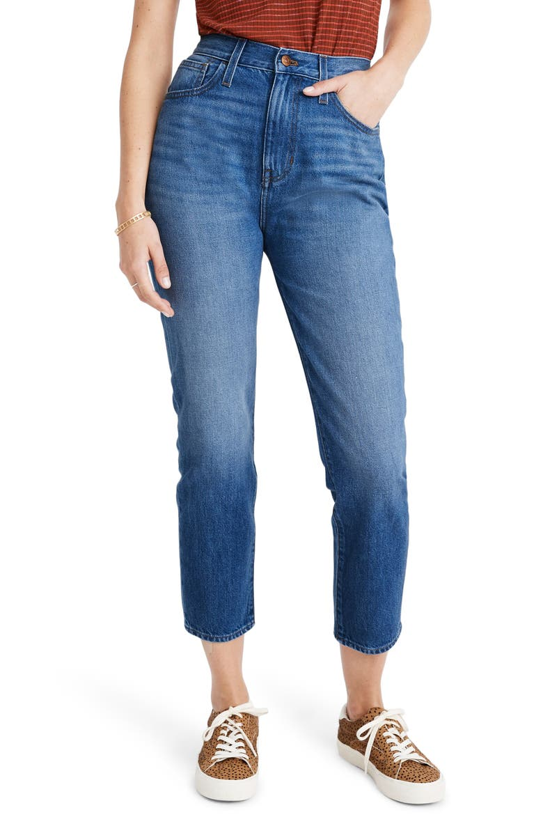 MADEWELL The Momjean Crop Jeans, Main, color, STRATFIELD WASH