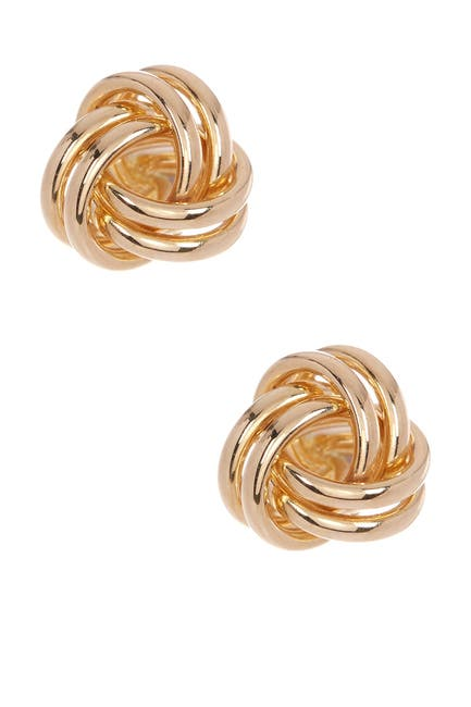 Image of Candela 10K Yellow Gold Love Knot Stud Earrings