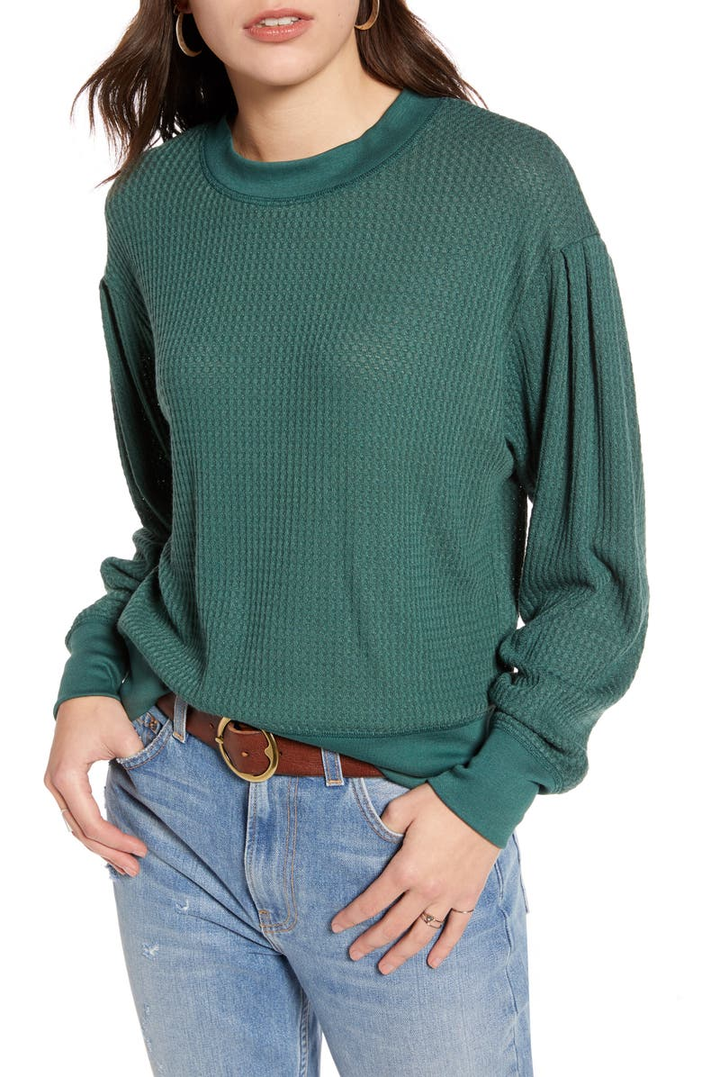 TREASURE & BOND Puff Sleeve Sweatshirt, Main, color, 301
