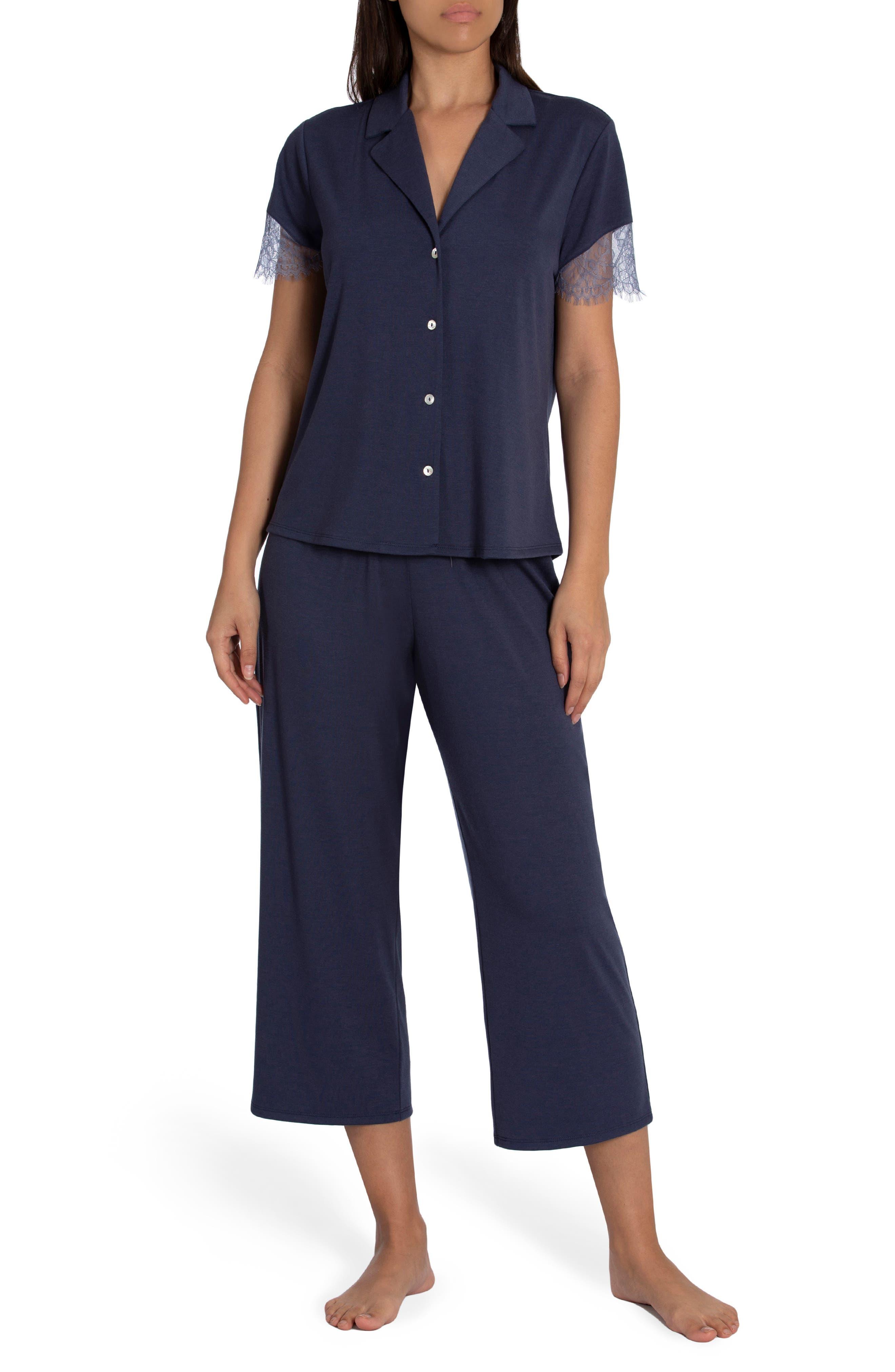 Camille Lace Trim Pajamas
