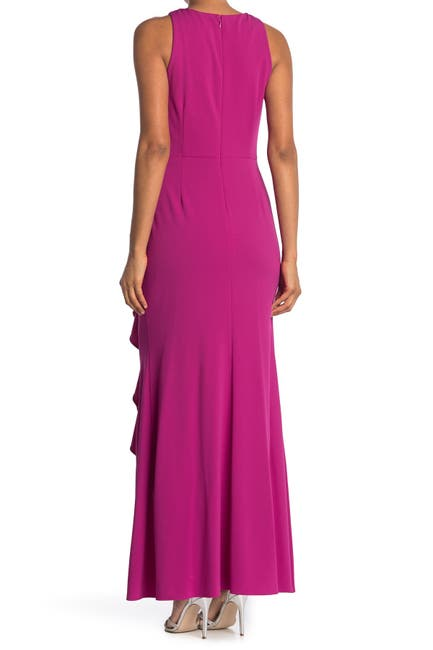 Image of Ignite Embellished Ruched Waist Sleeveless Gown