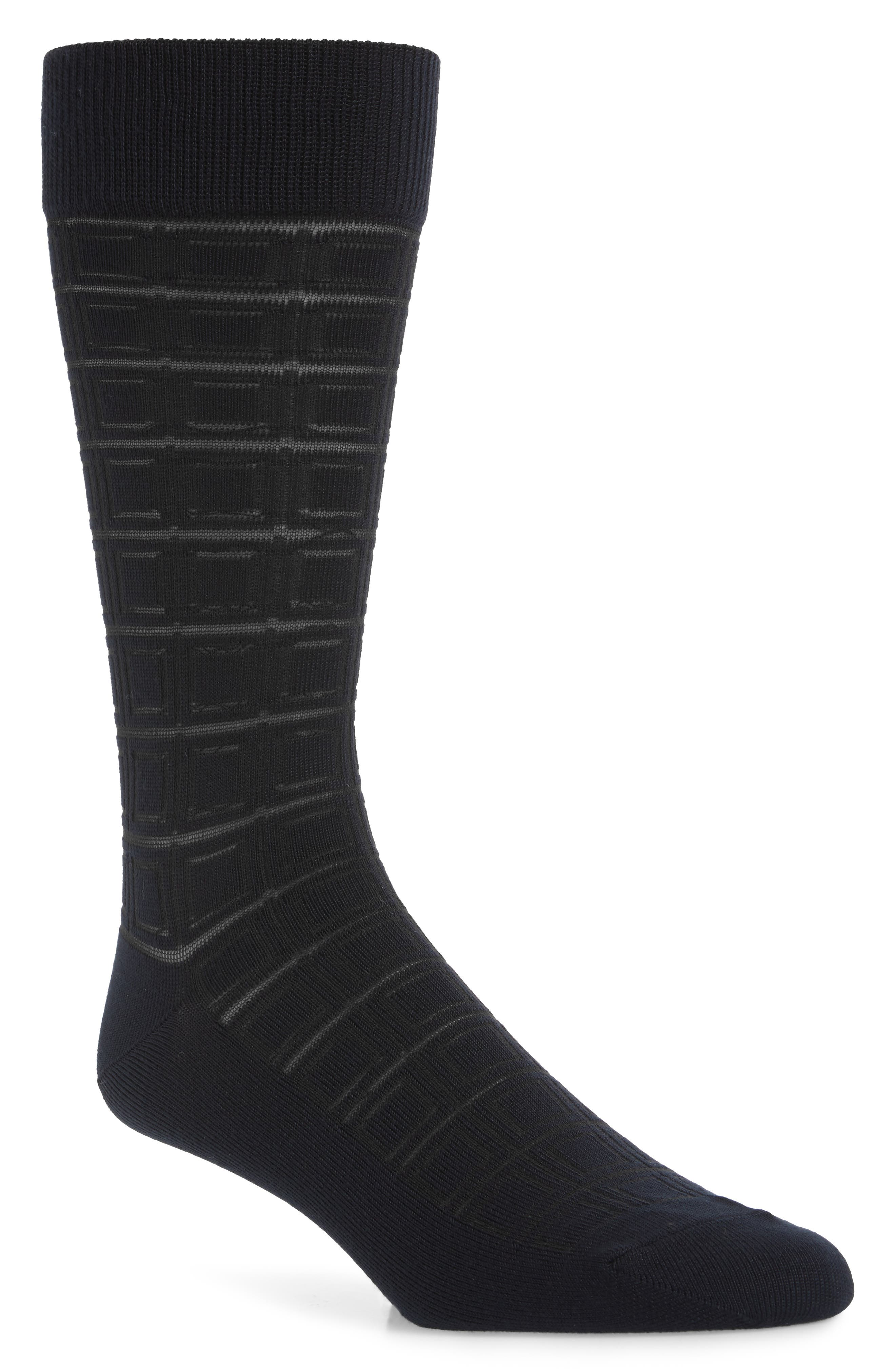 A soft and stretchy tech knit defines smart socks featuring a geometric pattern and stay-put ribbed cuffs. Style Name: Nordstrom Men\\\'s Shop Ultrasoft Geometric Dress Socks (Buy More & Save). Style Number: 5937884. Available in stores.