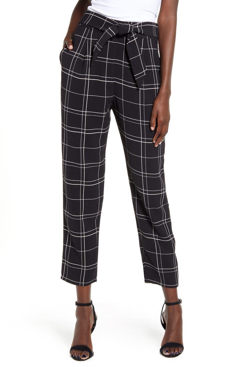 LEITH Tie Front Pants, Main, color, 001