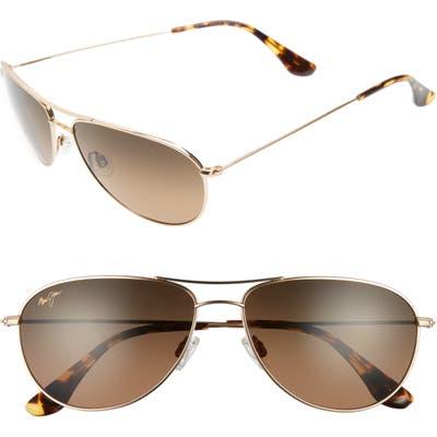 Maui Jim Sea House 60mm Polarizedplus2 Titanium Aviator Sunglasses -