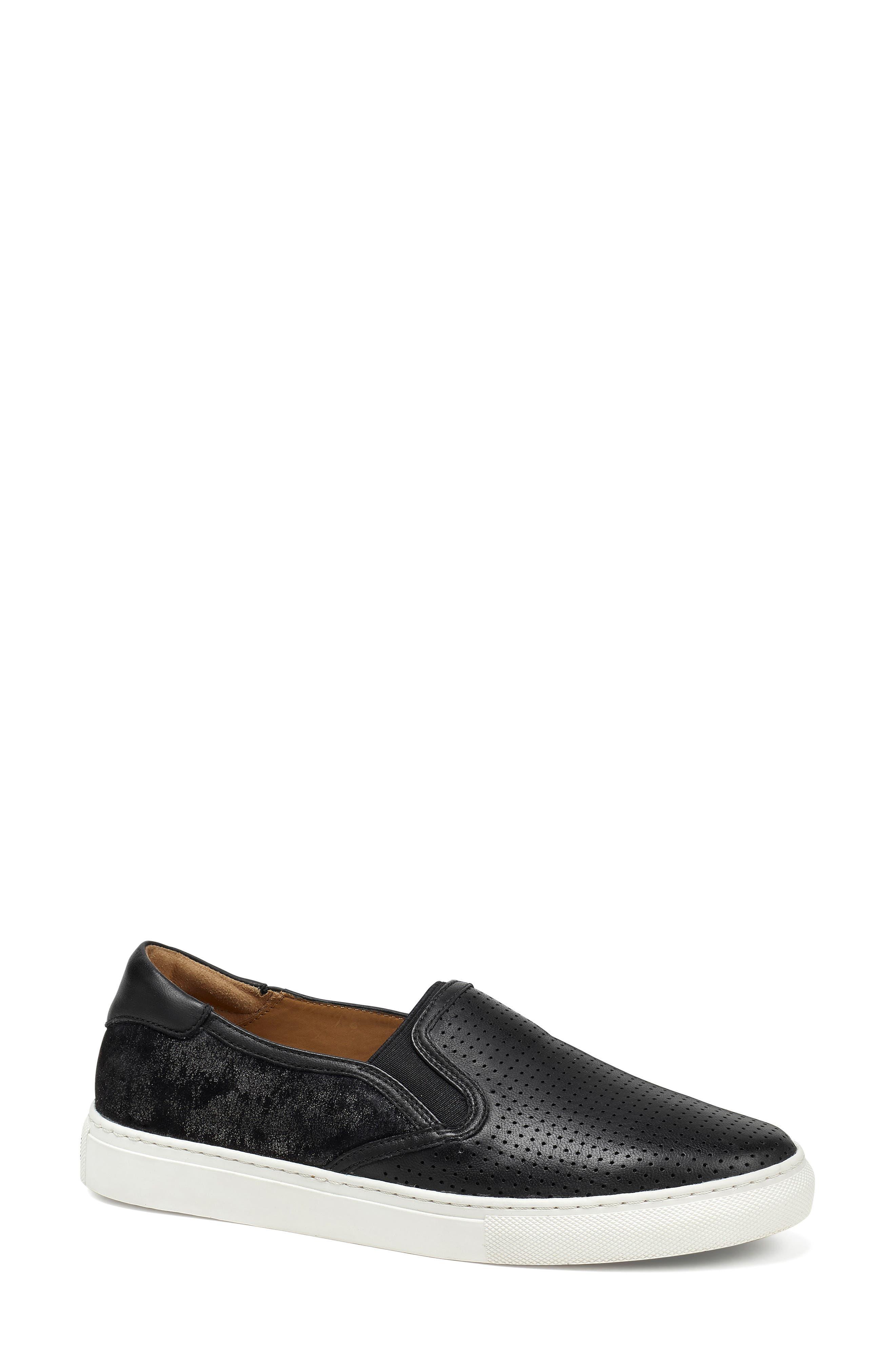 Trask Lillian Water Resistant Slip-On Sneaker- Black