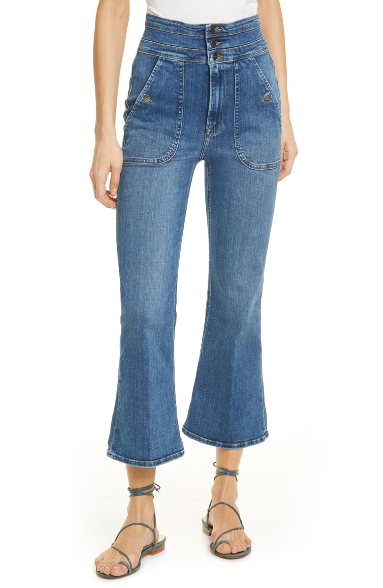 FRAME Le Crop Flare Triple Waist Jeans, Main, color, RADFORD