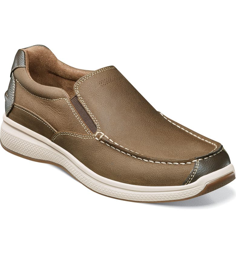FLORSHEIM Great Lakes Moc Toe Slip-On, Main, color, STONE LEATHER
