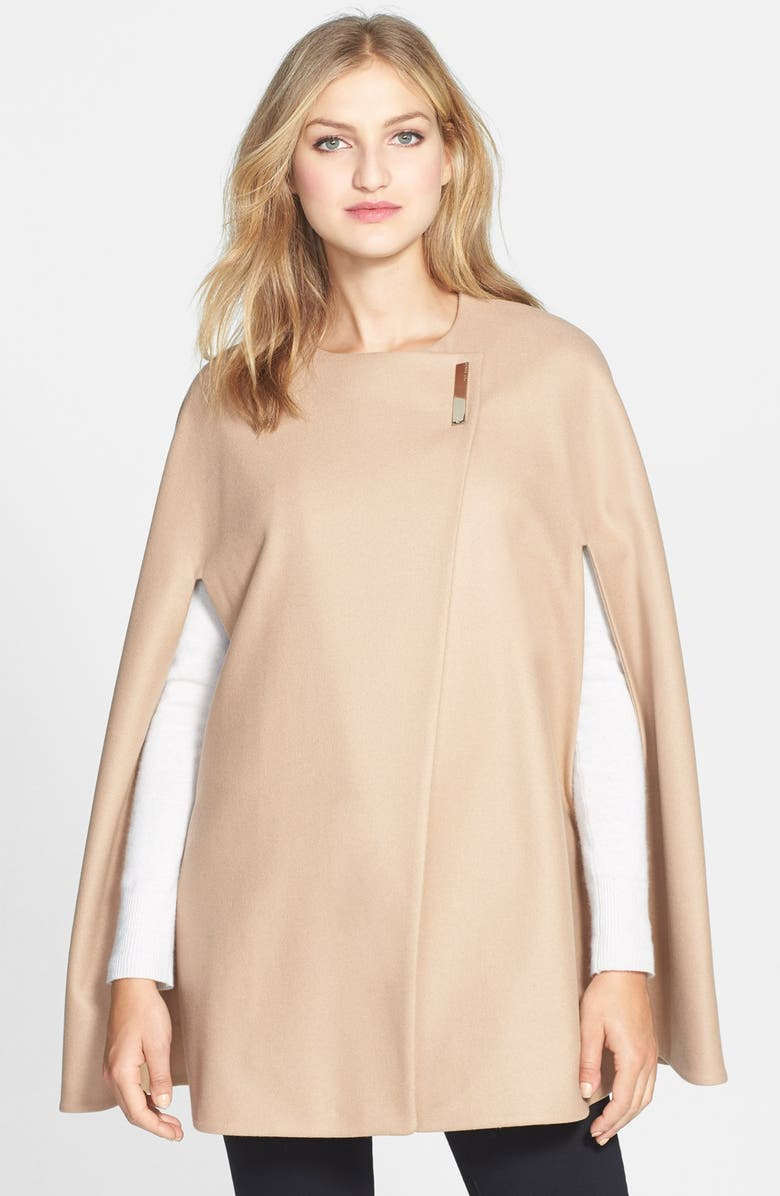 TED BAKER LONDON 'Minimalist' Wool Blend Cape, Main, color, 250