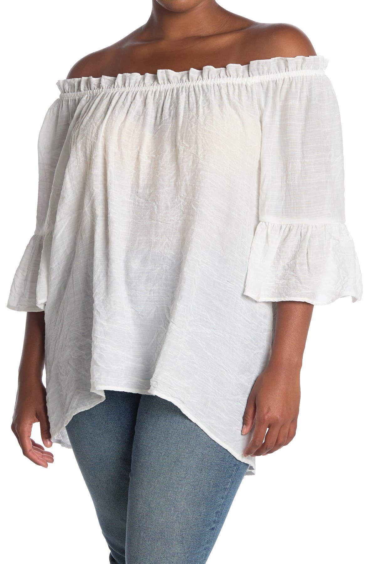 Forgotten Grace Off-the-Shoulder High/Low Peasant Top at Nordstrom Rack