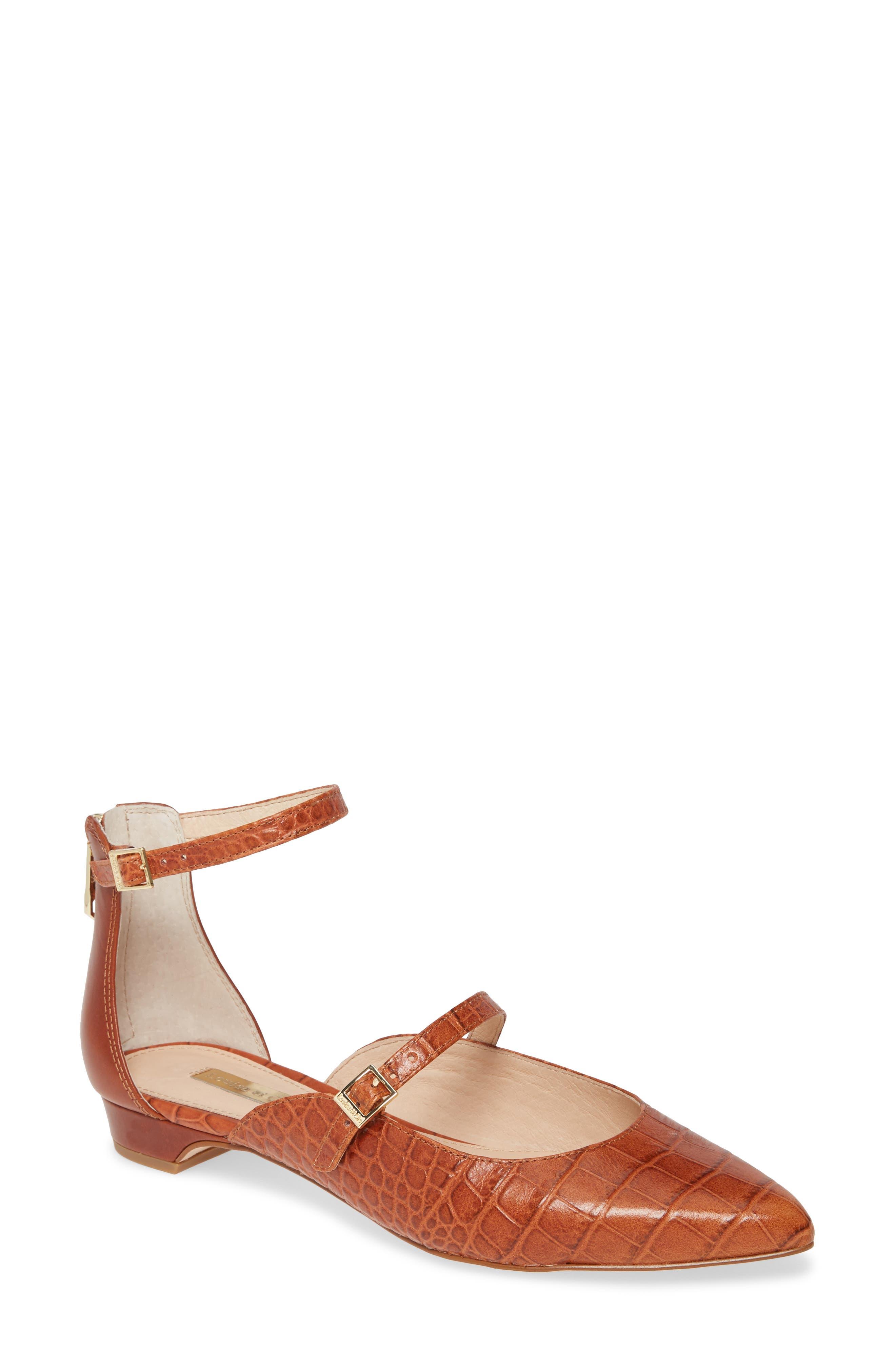 Louise Et Cie Claire Ankle Strap Flat, Brown