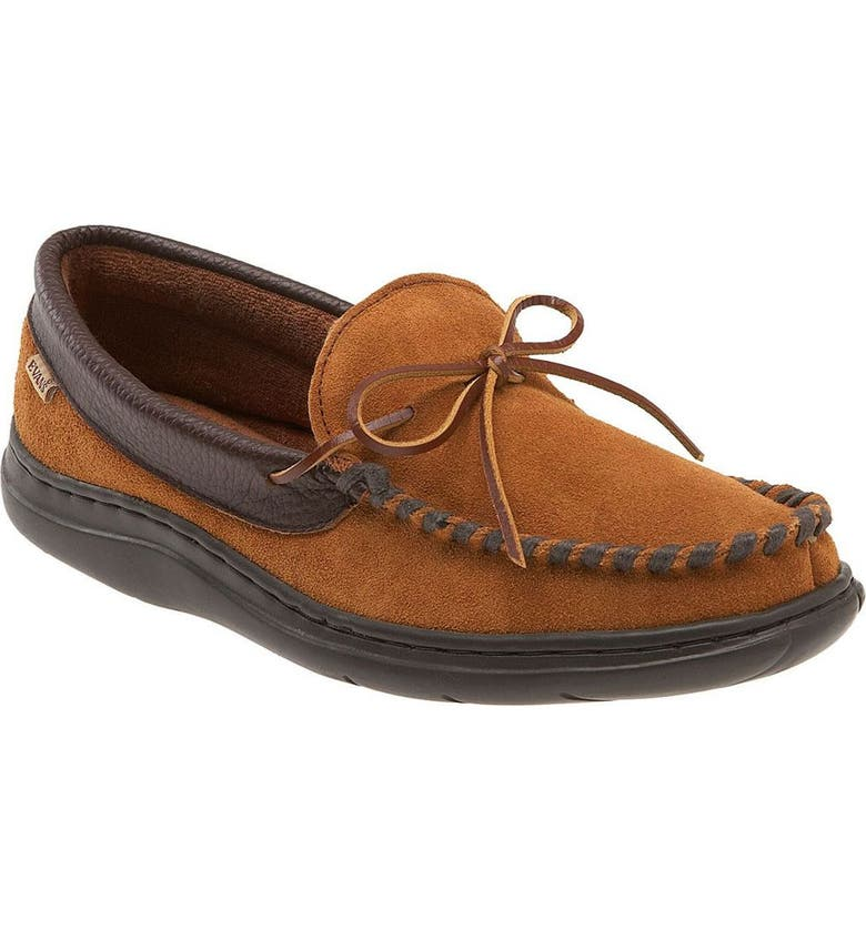 L.B. EVANS 'Atlin' Moccasin, Main, color, Saddle/ Terry