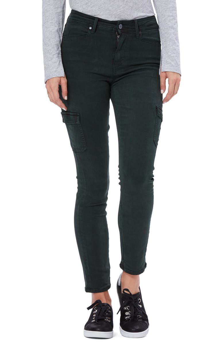 PAIGE Hoxton Skinny Cargo Jeans, Main, color, VINTAGE MIDNIGHT GREEN