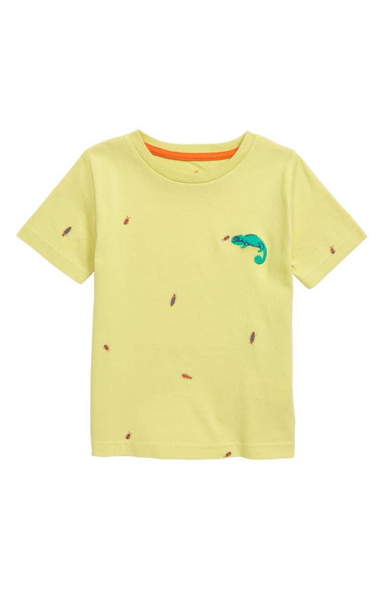 MINI BODEN Embroidered Chameleon T-Shirt, Main, color, 744