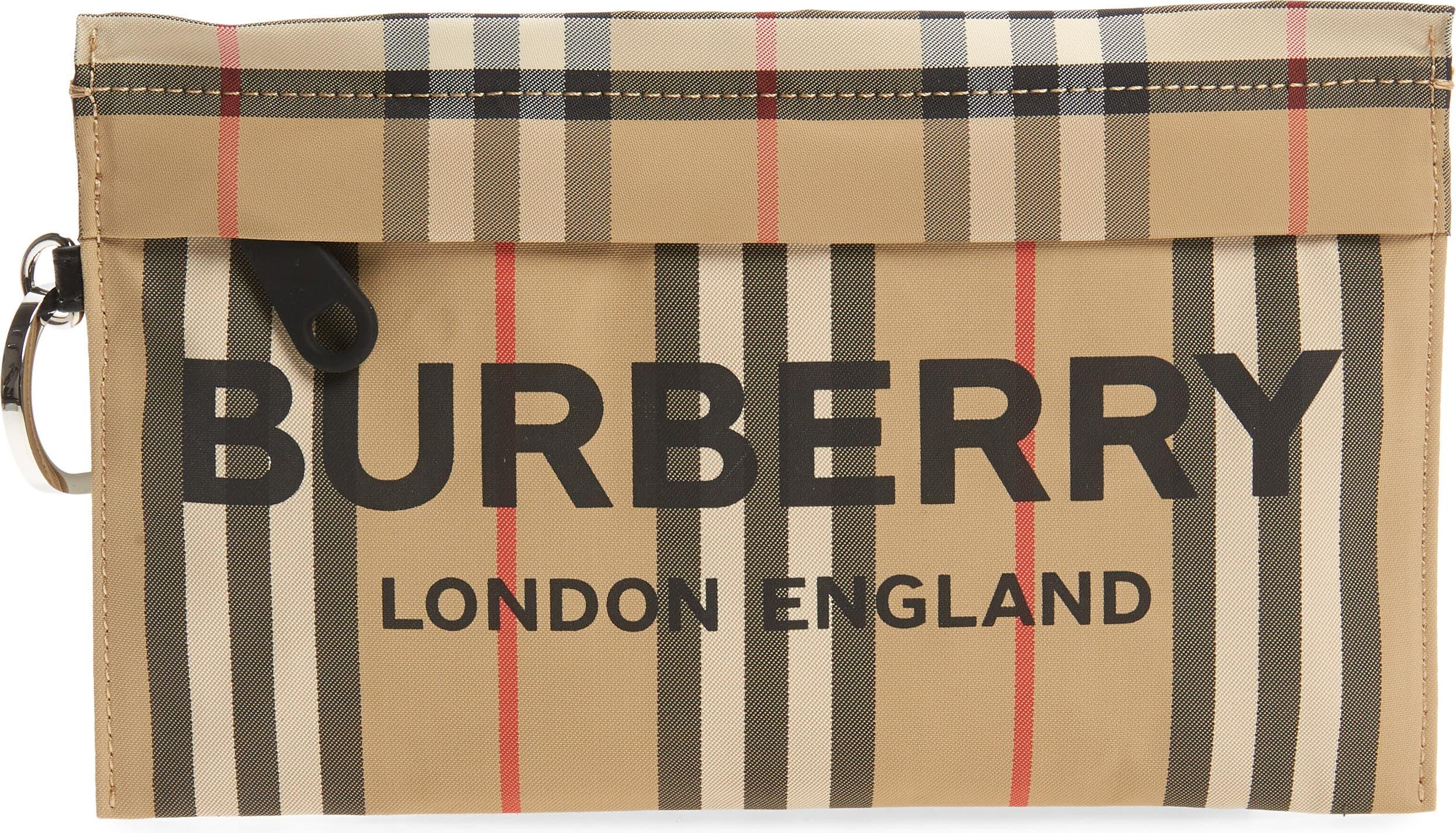 NavyIvory stripes nautical zip handmade and handwoven navy zipperribbon ivory satin lining Small Zip pouch
