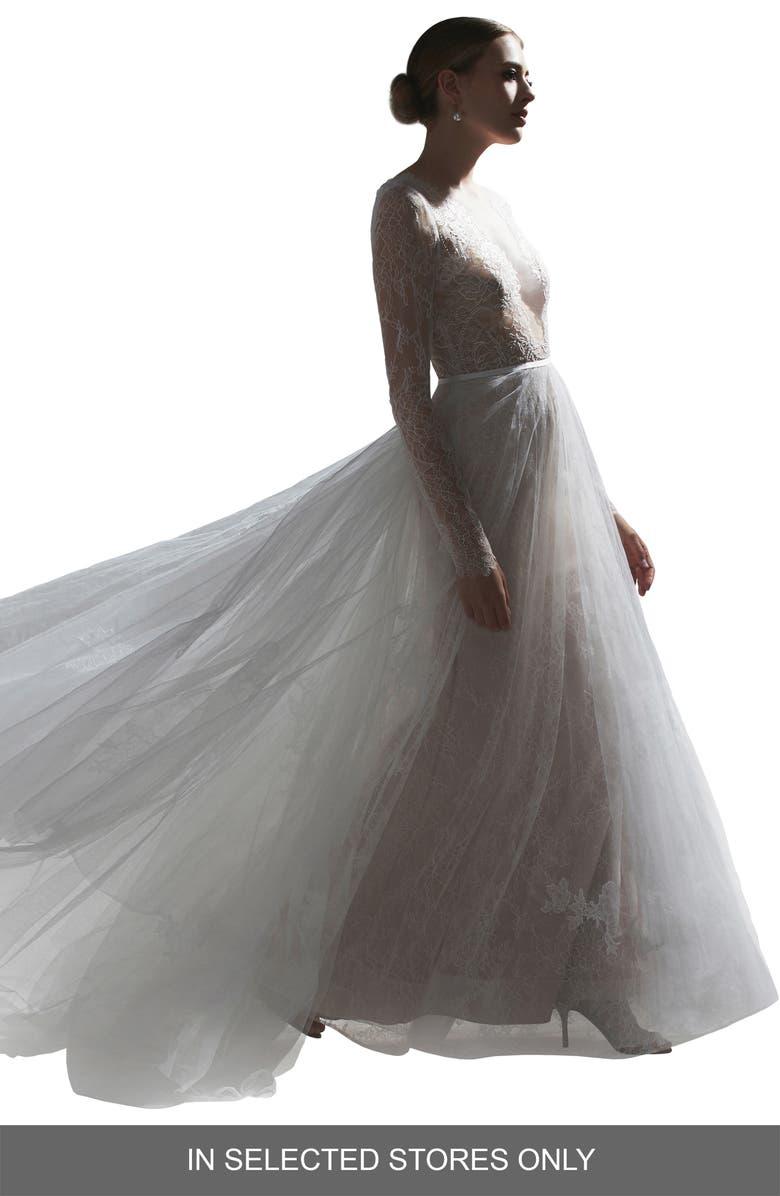 Watters Frasier Long Sleeve Lace Wedding Dress Nordstrom,October Wedding Guest Autumn Dresses 2020
