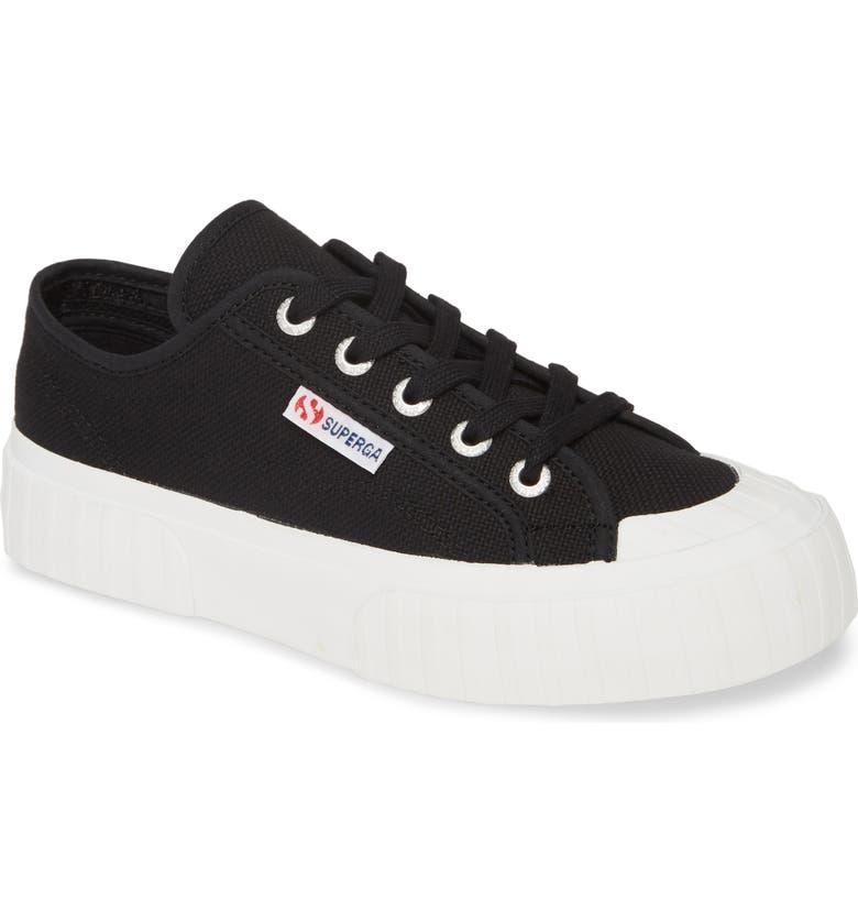 SUPERGA 2630 Cotu Sneaker, Main, color, BLACK / WHITE