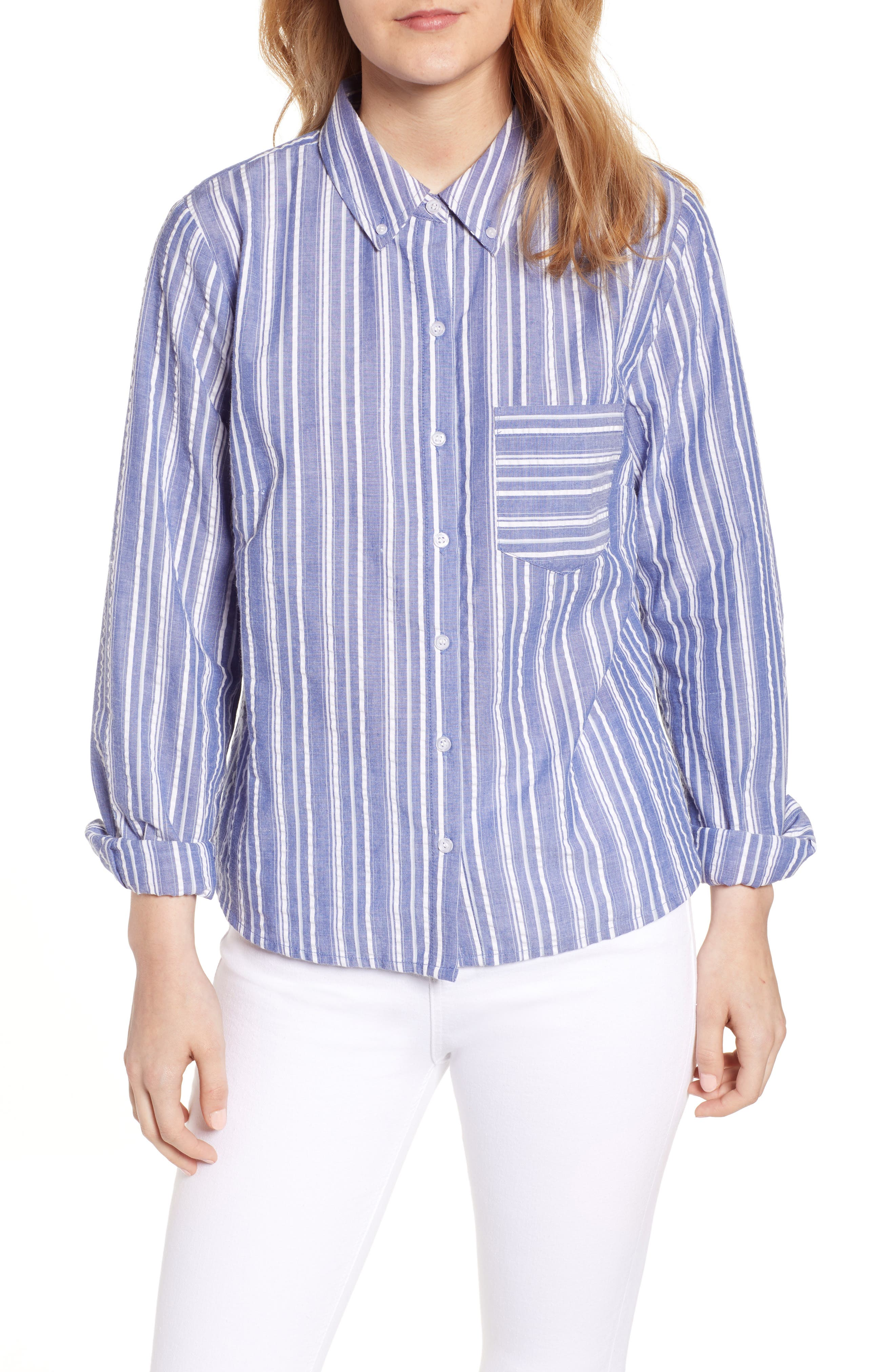 Seersucker Shirt, Main, color, 030