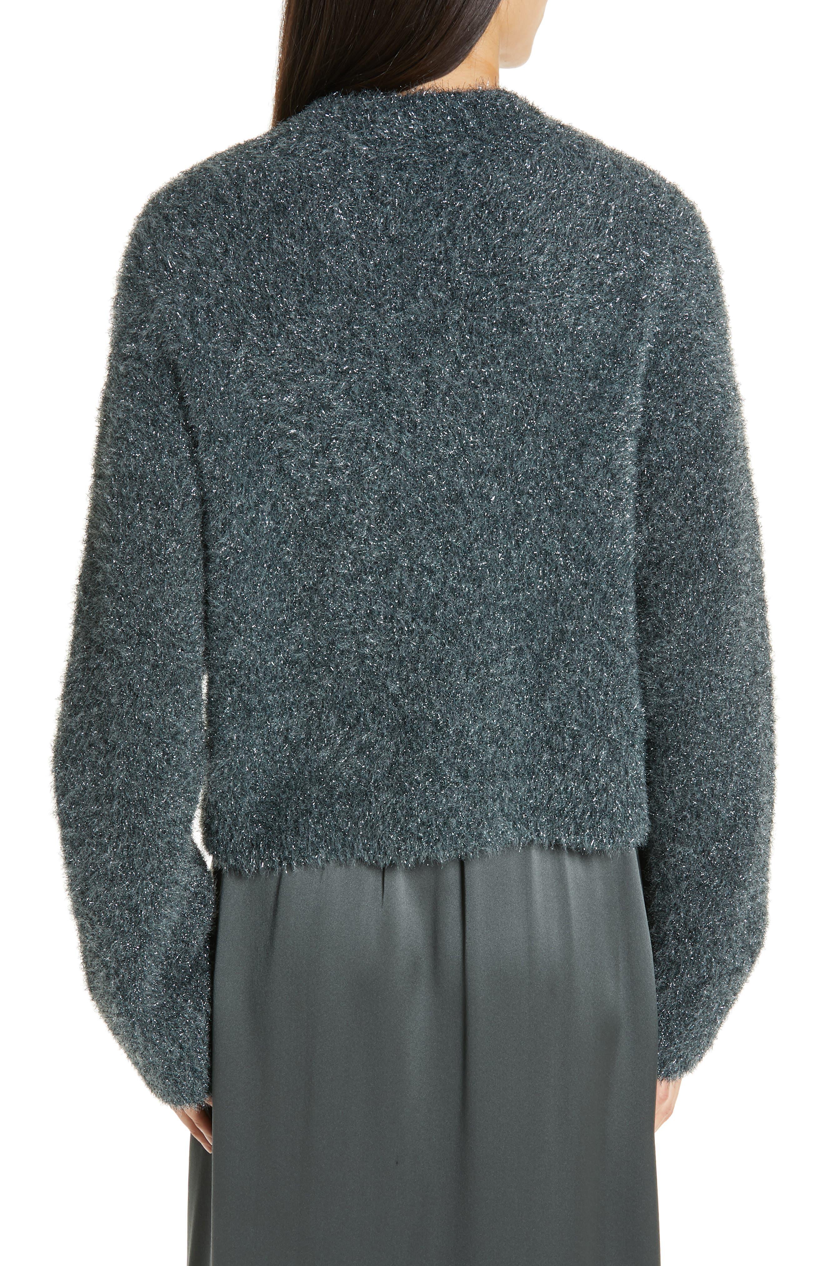 ,                             Boxy Metallic Knit Sweater,                             Alternate thumbnail 9, color,                             029