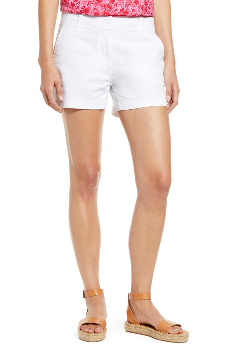 VINEYARD VINES Everyday Stretch Cotton Shorts, Main, color, 100