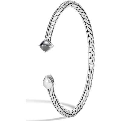 John Hardy Chain Classic Hammered Flex Stone Bracelet