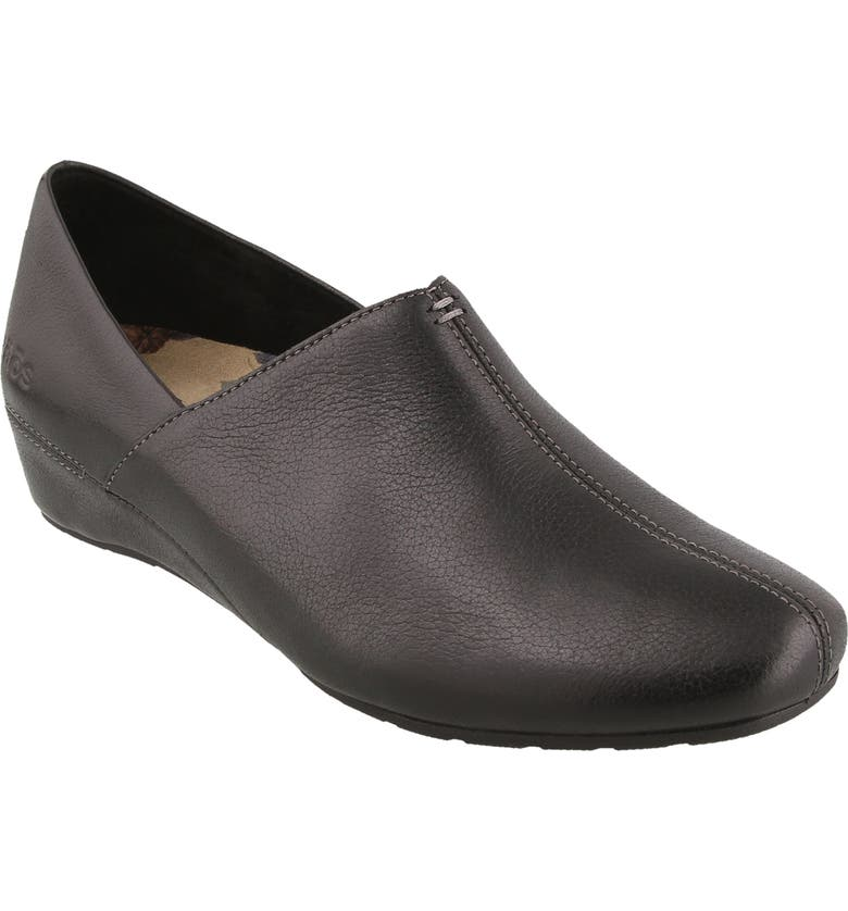 TAOS Scheme Wedge, Main, color, BLACK LEATHER